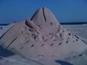 Greg Grady, sand sculptor